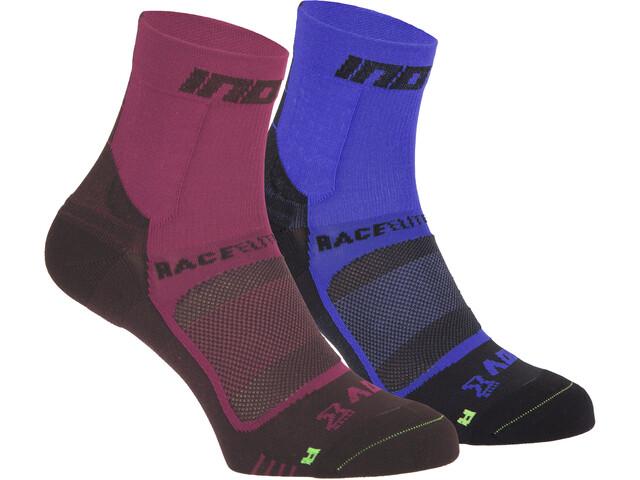 inov-8 Race Elite Pro Calcetines, rosa/azul